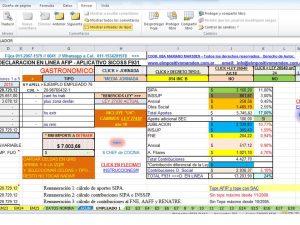 """PLANILLA EXCEL CCT """"GASTRONOMICOS"""" Cargas Sociales F931"""