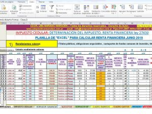 EXCEL RENTA FINANCIERA 2019